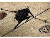 كاريكاتير صحيفة سعودية.. تحقيق التوازن بين القلب والعقل