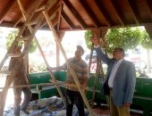 رئيس حى غرب المنصورة يتفقد أعمال رفع كفاءة الحدائق العامة المفتوحة