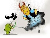 كاريكاتير صحيفة إماراتية.. رأس الفتنة يجتهد لتقسيم الوطن العربى