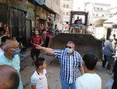 تحرير 24  محضر إشغال وفض سوق عشوائى بأبوقرقاص
