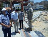 نائب محافظ بورسعيد يتابع أعمال تنفيذ مشروع حديقة فريال التاريخية.. صور