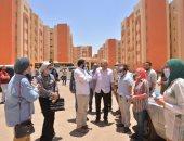 نائب رئيس جامعة أسيوط يتفقد العمارات السكنية المطروحة للتمليك
