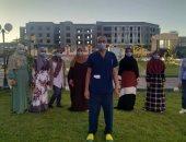 تعافى 11 مصابا بكورونا وخروجهم من عزل المدينة الجامعية ببني سويف