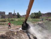 صور.. حماية النيل بالأقصر تنفذ 6 قرارات إزالة لمخلفات وردم بالبعيرات وجزية الطوابية