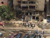 قارئة تشارك صور حريق عقار بشارع حسين هيكل بمدينة نصر