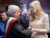 إيفانكا ترامب تستعيد ذكرياتها مع رئيس المكسيك أثناء زيارته للولايات المتحدة.. صور