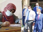توافد طلاب الفرق النهائية على جامعة عين شمس لأداء الامتحان وسط إجراءات وقائية