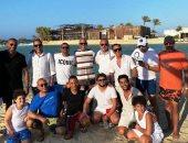 اجتماع فنى على شاطئ البحر يجمع السقا وأشرف عبد الباقى وشيرى عادل