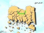 كاريكاتير صحيفة سعودية.. التدخل التركى يمزق الأراضى الليبية