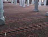 الانتهاء من تجهيز مصلى السيدات بمسجد السيدة زينب للفتح ظهر السبت.. صور