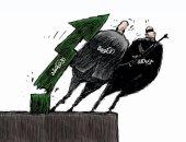 كاريكاتير صحيفة سعودية.. أزمة لبنان قد تسقط الحكومة وحزب الله