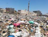 سيبها علينا.. شكوى من انتشار القمامة بمنطقة قرية الشرفا بكفر الشيخ