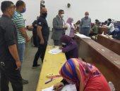 نائب رئيس جامعة بنها يتفقد امتحانات الفرق النهائية بكلية التربية