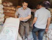 فيديو وصور.. ضبط 8 أطنان أرز وسكر مجهول المصدر ببيلا فى كفر الشيخ