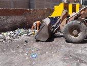 حى أول طنطا يشن حملة نظافة بشوارع المدينة.. صور