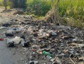 أهالى قرية ترعة ناصر يشكون استمرار تراكم وإلقاء القمامة بطريق الجبانة