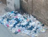 شكوى سكان شارع الجمهورية بالمنصورة من تراكم القمامة