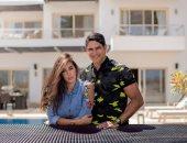 أحمد أبو هشيمة فى صورة جديدة مع زوجته ياسمين صبرى تغلق باب الشائعات
