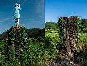 شاهد.. مجهولون يحرقون تمثال زوجة ترامب فى سلوفينيا.. وصاحبه: عمل مدبر