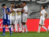 ريال مدريد يتفوق بهدف بنزيما على ألافيس فى الشوط الأول بالدوري الاسباني