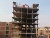"""محافظة القاهرة تستخدم """"جاك هامر"""" لرفع معدات هدم أعلى الأبراج المخالفة"""