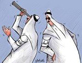 كاريكاتير صحيفة كويتية يرصد العلاقة بين الفساد والرقابة بالكويت