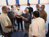 محافظ بورسعيد يتابع أعمال تطوير صالة نادى الحرية لذوى الاحتياجات الخاصة