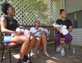 3 شقيقات أمريكيات ينجبن أطفالهن فى وقت واحد تحت إشراف نفس الطبيب.. صور