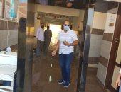 صور.. رئيس مدينة بلبيس بالشرقية يتابع تطبيق الإجراءات الاحترازية بلجان الثانوية