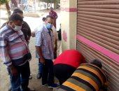 تحرير 21 محضر أشغال وغلق 3 محلات فى حملة لمجلس مدينة طنطا .. صور