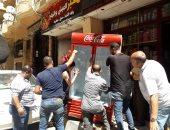 صور.. حملة مكبرة لإزالة إشغالات الطريق شرق الإسكندرية