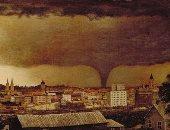 شاهد.. الإعصار لوحة عمرها 130 سنة لـ فنان غير مشهور تحكى عن مأساة