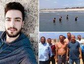 صور..  20 غواصا يبحثون عن جثمان طالب جامعى غرق فى مياه البحر المتوسط