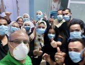 صورة للطاقم الطبى بمستشفى حميات الغردقة فى مواجهة فيروس كورونا