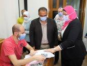 نائب رئيس جامعة عين شمس يتفقد سير الامتحانات بكلية الحاسبات والمعلومات