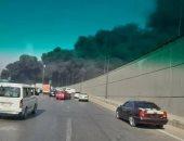 الحماية المدنية تدفع بـ4 خزانات مياه لإخماد حريق طريق الإسماعيلية الصحراوى