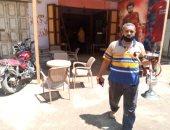 """تشميع مقهى فى بلبيس لعدم الالتزام بالإجراءات الاحترازية وتقديمه الشيشة"""" صور"""""""