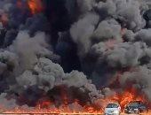 فيديو .. القصة الكاملة .. كارثة حريق خط بترول طريق الإسماعيلية