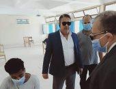 نائب رئيس جامعة السادات يتفقد لجان امتحانات كلية التربية الرياضية