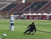 شريف إكرامي يتألق في تدريبات حراسة المرمي على ملعب التتش بالجزيرة.. فيديو