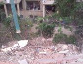 شكوى من تهدم أسوار نادى كوم الدكة بمحافظة الإسكندرية