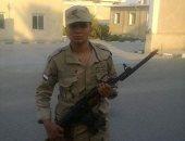 """كلنا الجيش المصرى.. """"محمد"""" يشارك صحافة المواطن بصورته خلال فترة تجنيده"""