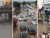 مصرع شخصين وغرق سيارات فى فيضانات غزيرة بإيطاليا..فيديو وصور
