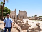 صور.. مدير معبد الأقصر يكشف تاريخ المشروعات الفرعونية.. أبرزها ترميم 3 تماثيل لرمسيس الثانى