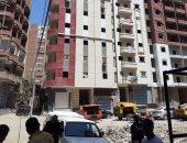 حملة لإزالة برج مخالف فى منطقة الغشام بالزقازيق .. صور