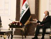 الرئيس العراقى لظريف: المنطقة بحاجة لبناء علاقات متوازنة ورؤية واضحة