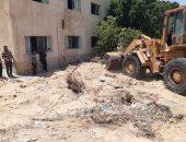 إنطلاق حملة إزالات للتعديات بقرية 6 أكتوبر بشمال سيناء .. صور