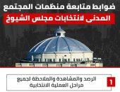 ضوابط متابعة منظمات المجتمع المدنى لانتخابات مجلس الشيوخ.. إنفو جراف