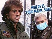 """ترامب الأبن يسخر من ارتداء الكمامة الطبية بصورة من فيلم First Blood لـ """"رامبو"""""""