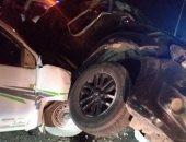قارئ يشارك بصورة حادث تصادم على الطريق مصر إسماعيلية الصحراوي